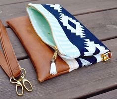 Fold over hipster cross body bag / aztec tribal by babymamasewshop