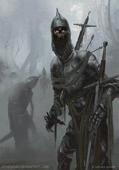 Undead knights – horror concept by axel sauerwald dark fantasy art, high fantasy, fantasy Fantasy Monster, Monster Art, Arte Horror, Horror Art, Dark Fantasy Art, Fantasy Artwork, High Fantasy, Dark Siders, Undead Knight