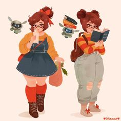 """""""thinking of cute outfits for Mei! Cute Art Styles, Cartoon Art Styles, Cartoon Faces, Plus Size Art, Cartoon Kunst, Character Drawing, Character Types, Aesthetic Art, Peach Aesthetic"""