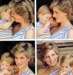 1986 08 09 Diana and Harry whilst visiting King Juan Carlos, Queen Sofia at Marivent Palace in Spain