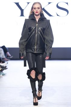 2015 YKS FW VANCOUVER FASHION WEEK Vancouver, Leather Jacket, Punk, Jackets, Style, Fashion, Studded Leather Jacket, Down Jackets, Moda
