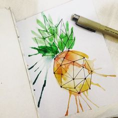 Switching rendering palette. Watercolor for today. Living in a tropical country…