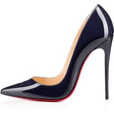 Christian Louboutin So Kate ($675) ❤ liked on Polyvore featuring shoes, pumps, heels, christian louboutin, patent pumps, sexy high heel pumps, sexy stilettos, christian louboutin shoes and heels stilettos