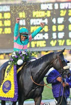 Zenyatta and Mike Smith Breeders Cup Champion 2009