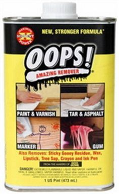 This Product Called Goof Off Is Perfect For Removing Dry