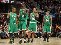 Rajon Rondo. Kevin Garnett. Ray Allen. Paul Pierce.   They are beating the Heat someway, somehow.