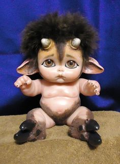 Baby Satyr or Faun: Myth-Babies Fantasy Doll. $125.00, via Etsy.