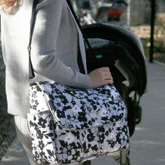 Bumble Bags Ashley Tote Bag - Evening Bloom | Maternity Clothes  available at Due Maternity And Baby www.duematernityandbaby.com