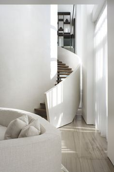 Interior stairs design stairways spaces Ideas for 2019 Interior Stairs, Interior Exterior, Interior Architecture, Modern Interior, Modern Decor, Estilo Interior, Escalier Design, White Stairs, House Stairs