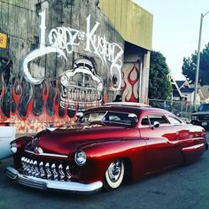 Hot Rods and Pin Ups. A huge collection of thousands of images of hotrods, hot rodding, drags, gassers, etc. From the most important early days to modern kustoms and street rods. Retro Cars, Vintage Cars, My Dream Car, Dream Cars, Hot Rods, Muscle Cars, Mercury Cars, Old School Cars, Lead Sled