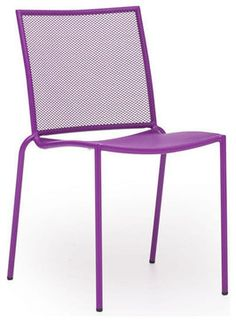 Zuo Repulse Bay Chair in Purple [Set of 4] - modern - Outdoor Dining Chairs - Beyond Stores