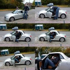 46 Hilarious Photos Of Tall People Problems – Page 5 of 5 – DrollFeed - funny photo of people Funny Photos Of People, Funny Pictures, Hilarious Photos, Tall People Problems, Short People, People Leave, Tall Guys, Tall Man, Small Cars