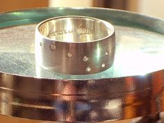 ursa major ring. sterling and diamond band. big by bumblebk, $220.00