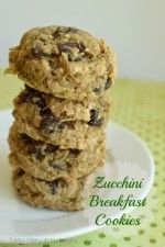 Zucchini Breakfast Cookies. I'm freezing a ton of these for those busy school mornings that are coming!  Little Dairy on the Prairie