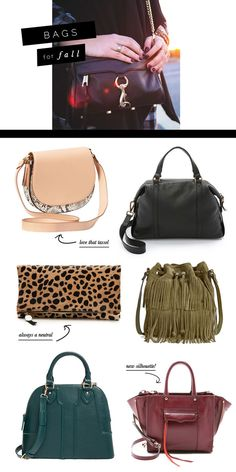 Currently Coveting bags for fall- trendy and staple bags with tassels, fringe, leopard