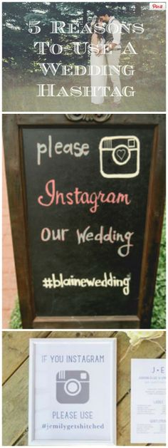 5 Reasons To Use A Wedding Hashtag