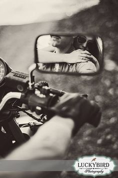 Columbus motorcycle engagement photos