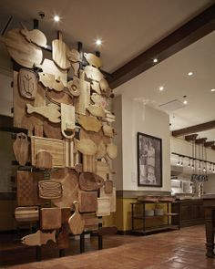 wall of cutting boards
