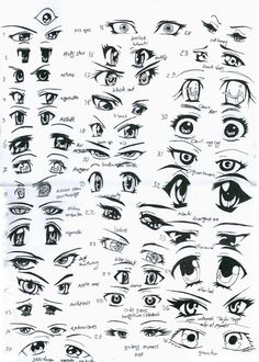 37 female anime eyes by ~eliantART on deviantART
