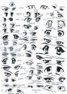 37 female anime eyes by ~eliantART on deviantART