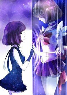 Hotaru Tomoe e Sailor Saturn ♄ Sailor Moons, Sailor Moon Manga, Sailor Pluto, Sailor Moon Crystal, Sailor Venus, Arte Sailor Moon, Sailor Moon Fan Art, Sailor Jupiter, Sailor Scouts