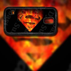 Superman Flame Inspired Design on Samsung Galaxy S5 Black Rubber Silicone Case by EastCoastDyeSub on Etsy https://www.etsy.com/listing/196353978/superman-flame-inspired-design-on