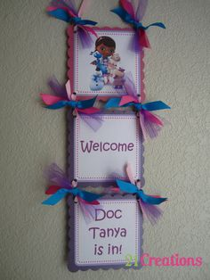 Hey, I found this really awesome Etsy listing at https://www.etsy.com/listing/197004915/doc-mcstuffins-door-sign