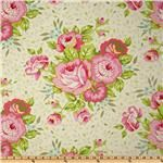 I love pink roses, This fabric would be like wearing a bouquet.