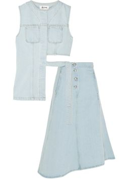 Acne Studios denim top, $320, and skirt, $330, net-a-porter.com.