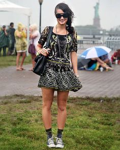 ELLE Street Chic at All Points West - Discover more summer fashion and street fashion - ELLE