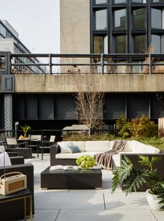 Contemporary Patio and Deck in New York, NY by ASH NYC