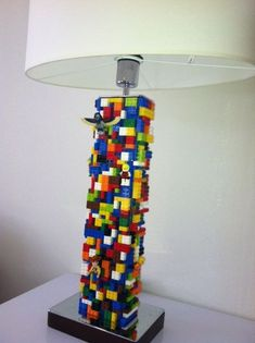 Lego lamp shade maybe i should build two of these while i ponder cute diy mini lego led lamps aloadofball