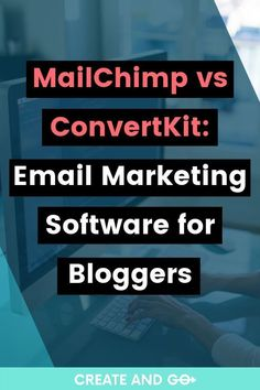 Let's chat about MailChimp vs ConvertKit for email marketing software, including why you need an email list and the differences in paid and free software. Email Marketing Software, Email Marketing Design, Email Marketing Campaign, Content Marketing, Affiliate Marketing, Online Marketing, Marketing Ideas, Digital Marketing, Facebook Marketing