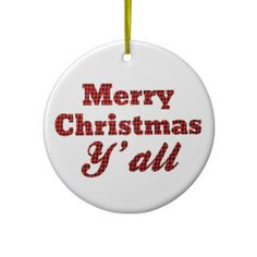 southern christmas greeting houndstooth christmas ornaments