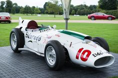 Visitors were able to view a spectacular display on the front lawn comprising of a #Maserati Tipo 420/M/58 'Eldorado', on loan from the Panini Museum Collection, raced by Sir #StirlingMoss in 1958.
