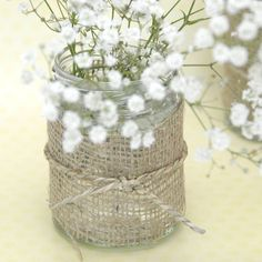 Hessian/burlap vase decoration/centerpiece for a country style, western, cowboy…