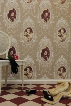Stencil Library - over the top baroque picture frame wall gallery!