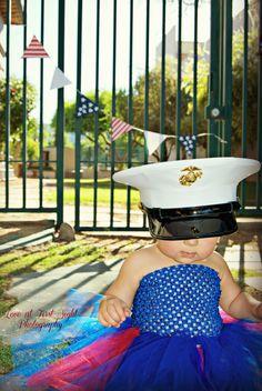 Marine Corps dress blues tutu #usmc #baby