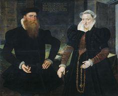 Maerten de Vos, Portrait of Gillis Hooftman (1521-81), Shipowner, and his wife Margaretha van Nispen. DateJuly 1570