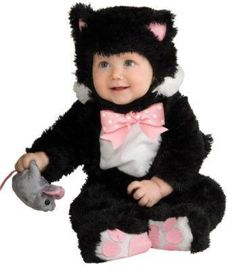 Baby Halloween Costumes | Black Kitty Infant Costume - Baby Halloween Costumes