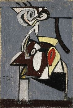 Arshile Gorky: Child of an Idumean Night (Composition No. 4) 1936, oil on cardboard