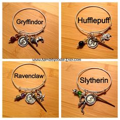 Harry Potter inspired Hogwarts Houses Adjustable by NerdyNoodle