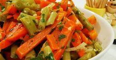 Ingredientes   500 g de cenoura  500 g de vagem  2 colheres (sopa) de salsinha picada