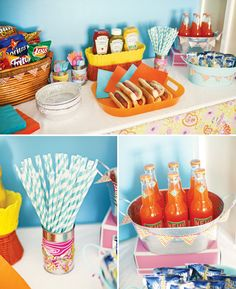 Camping Theme Party Food   70's Vintage Barbie Camping Party // Hostess with the Mostess®