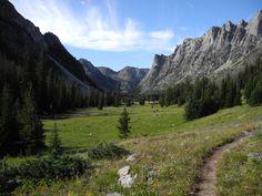 "New Fork Park, Bridger Wilderness. Lat 43° 9'22.65""N, Long 109°50'49.77""W"
