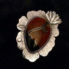 Leather And Silver Bracelet Mens Key: 7203313083 Metal Clay Jewelry, Leaf Jewelry, Enamel Jewelry, Pendant Jewelry, Jewellery, Indian Jewelry, Fine Jewelry, Piercings, Soldering Jewelry