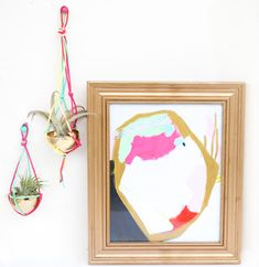 Craft It - A Macrame Air Plant Hanger - A Kailo Chic Life Air Plants, Gold Accents, Plant Hanger, Macrame, Chic, Create, Flowers, Projects, Life