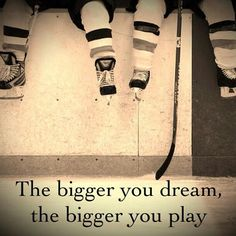 The bigger you dream....#Hockey