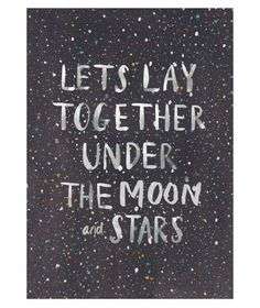 Under the Moon and Stars Print by Adventures of