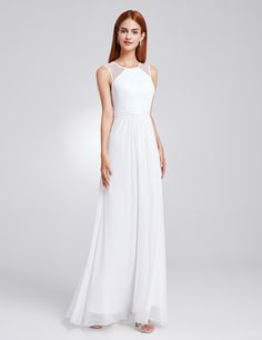 11700169f Ever-Pretty Long Evening Ball Gowns Beaded Chiffon Bridesmaid Dresses  08742 Ball Gowns